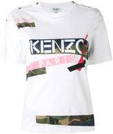Kenzo patch print T-shirt - women - Cotton - M