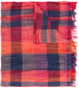 Y's checked scarf - women - Cotton/Linen/Flax - One Size