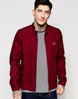 Pretty Green Harrington Jacket In Burgundy
