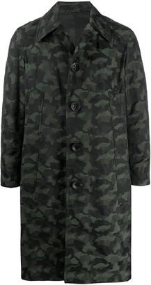Gabriele Pasini Camouflage Single-Breasted Coat