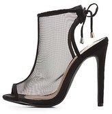 Charlotte Russe Mesh Peep Toe Dress Sandals