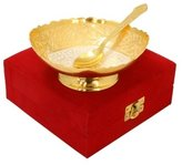 Radha Krishna Shop Two Ton A Single Beautiful Bowl witl A spoon