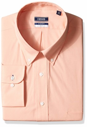Izod Mens Big Fit Stretch Check (Big and Tall) Dress Shirt