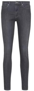 HUGO BOSS Super-skinny-fit jeans in black cotton-blend denim