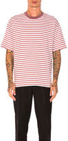 Zanerobe Stripe Box Tee in Mauve. - size L (also in S)