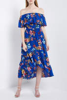 Soprano Royal-Blue Floral Maxi
