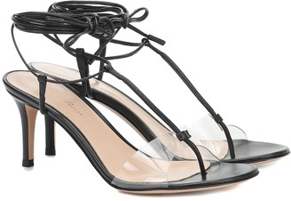 Gianvito Rossi Gwyneth PVC and leather sandals