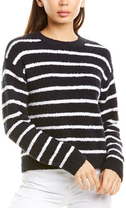 Vince Striped Waffle Stitch Sweater