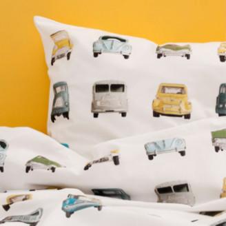 studioditte - 100 x 135cm Woolen Cars Toddler Duvet Set - wool