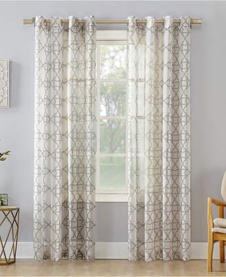 "Lichtenberg No. 918 Powell Trellis Sheer Grommet Curtain Panel, 59"" W x 84"" L"