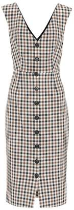 Veronica Beard Lark checked cotton-blend dress
