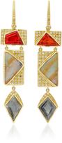 Brooke Gregson M'O Exclusive: Barragan Fire Opal Diamond and Boulder Opal Earrings