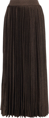 The Row Omin Pleated Wool And Silk-blend Midi Skirt