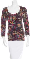 Etro Floral Print Long Sleeve T-Shirt