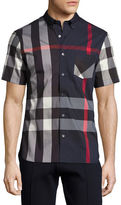 Burberry Thornaby Short-Sleeve Check Sport Shirt