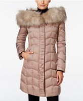 T Tahari Faux-Fur-Trim Hooded Puffer Coat