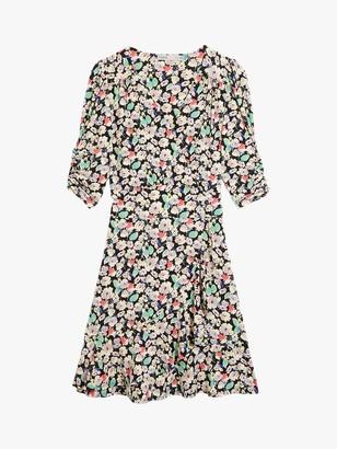 Oasis Floral Ruffle Mini Tea Dress, Multi