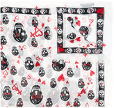 Alexander McQueen skull and heart print scarf