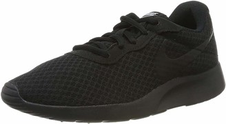 Nike Women's WMNS Tanjun Running Shoes Black (Black/Black-White 002) 4 UK (37.5 EU)