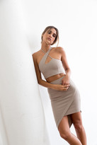 Donna Mizani Asymmetrical Mini Skirt