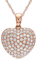 Concerto 14K Rose Gold and 0.50TCW Diamond Heart Pendant Necklace