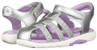 Stride Rite SRT Luna (Toddler) (Silver) Girls Shoes