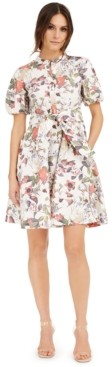 INC International Concepts Inc Petite Cotton Puff-Sleeve Dress, Created for Macy's