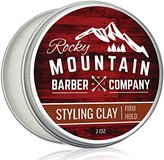 Hair Styling Clay for Men - Molding Hair Product with Firm Hold for Shorter Styles - Workable Shine-Free Matte Finish with Natural Plant Derived Ingredients- 2 OZ