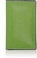 Valextra Men's Folding Card Case-LIGHT GREEN