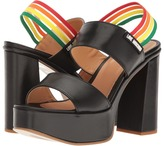 Love Moschino Rainbow Strap Chunky Heels Women's Shoes