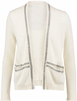 Maje Bead-embellished linen and cotton-blend cardigan
