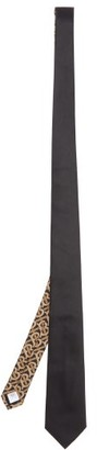 Burberry Manston Tb-logo Silk Tie - Mens - Black