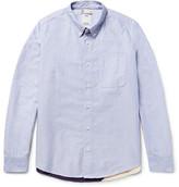Visvim Lungta Button-down Collar Flag-appliquéd Cotton-oxford Shirt
