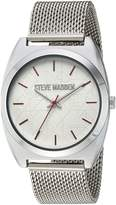 Steve Madden Women's Quartz and Alloy Casual Watch, Color:Silver-Toned (Model: SMW013PK)