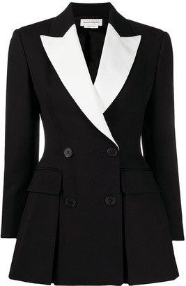 Alexander McQueen Two-Tone Double-Breasted Blazer