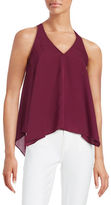 GUESS Chain-Accented Asymmetrical Tank Top