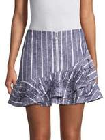 Parker Zoro Stripe Ruffled Skirt