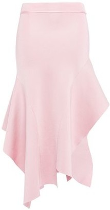 Victoria Beckham Asymmetric Flared Stretch-knit Skirt