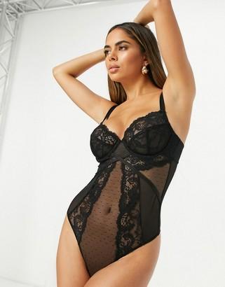 ASOS DESIGN Fuller Bust Arabella lace underwire bodysuit