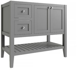"CNC Costume National Cabinetry Vanguard 36"" Left Drawer Single Bathroom Vanity Base Only Cabinetry Base Finish: Dove Gray"