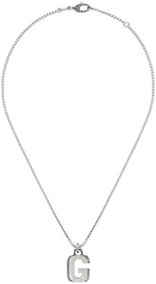 """Gucci Silver """"G"""" letter necklace"""