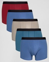 Asos Trunks In Jewel Colours 5 Pack Save