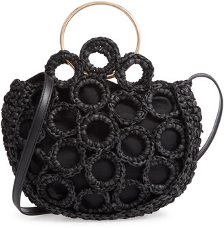 Mali & Lili Rachel Crochet Half Moon Bag