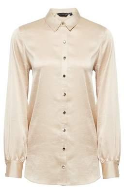 Dorothy Perkins Womens Gold Longline Shirt, Gold