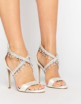 Asos HATTIE Embellished Bridal Heeled Sandals