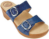 Dansko Leather Slide Sandals with Double Adj. Straps - Sophie