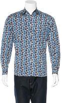 Prada Heart Print Woven Shirt