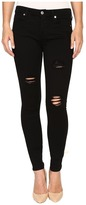 7 For All Mankind Ankle Skinny w/ Destroy in Slim Illusion Luxe Black