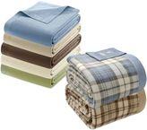 True North by Sleep Philosophy Microfleece Blanket with Satin Binding