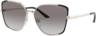 Prada Cat-Eye Metal Sunglasses